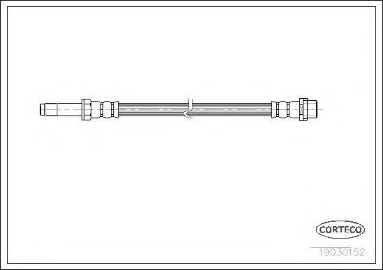 19030152 CORTECO Тормозной шланг