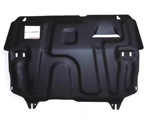 Защита картера двигателя и кпп Skoda Rapid(Шкода Рапид)V-все(2014-2016-)/VW Polo Sedan V-все(10-)штамп.(Сталь1,8 мм) АВС-ДИЗАЙН 25419C2