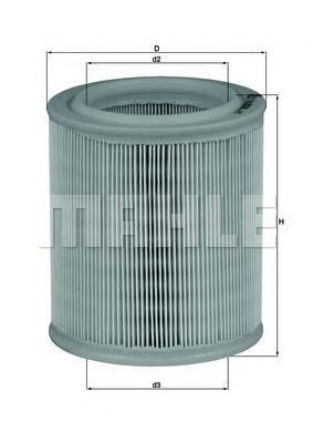 LX706 MAHLE Воздушный фильтр