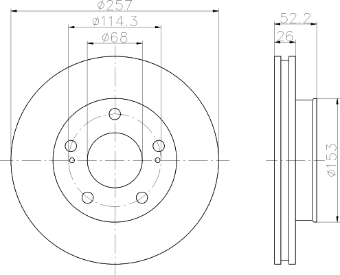 8DD355104561 HELLA Тормозной диск