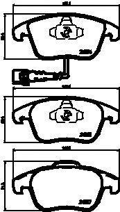 Комплект тормозных колодок TEXTAR 2433401