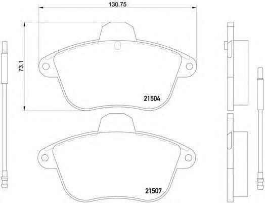 Комплект тормозных колодок, дисковый тормоз TEXTAR 2150401