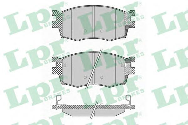 05P1345 LPR/AP Комплект тормозных колодок, дисковый тормоз