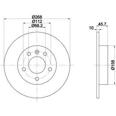 92074303 TEXTAR Тормозной диск