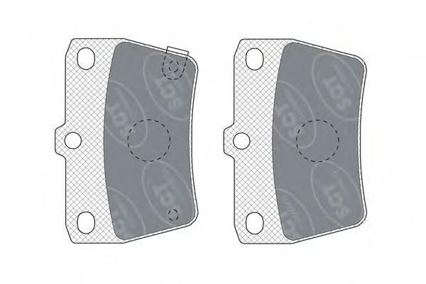Комплект тормозных колодок, дисковый тормоз SCT SP309