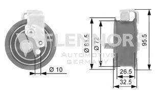 Натяжной ролик, ремень ГРМ FLENNOR FS00997