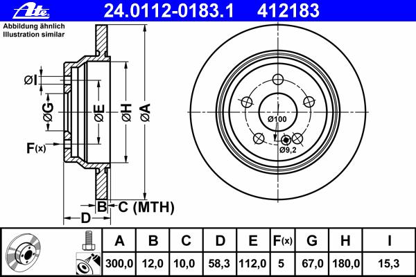 24011201831 ATE Тормозной диск