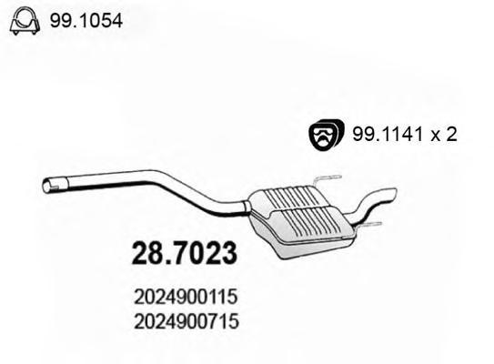 287023 ASSO Глушитель выхлопных газов конечный