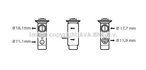 MS1124 AVA Клапан расширительный
