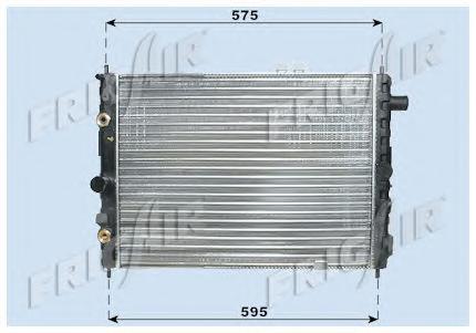 Радиатор, охлаждение двигателя FRIG AIR 01073025