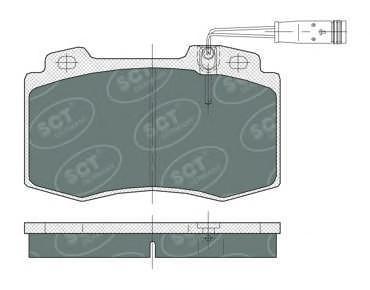 Комплект тормозных колодок, дисковый тормоз SCT SP388