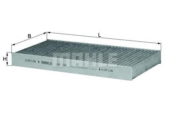 LAK152 MAHLE/KNECHT Фильтр, воздух во внутренном пространстве