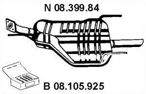 Глушитель задняя часть EBERSPACHER 0839984