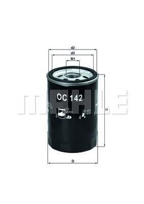 OC142 MAHLE/KNECHT Масляный фильтр