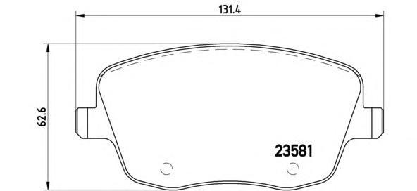 P85057 BREMBO Комплект тормозных колодок, дисковый тормоз