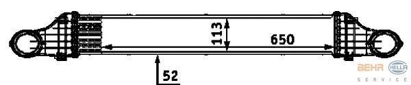 8ML376723381 HELLA Интеркулер