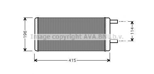 VL6028 AVA Теплообменник, отопление салона
