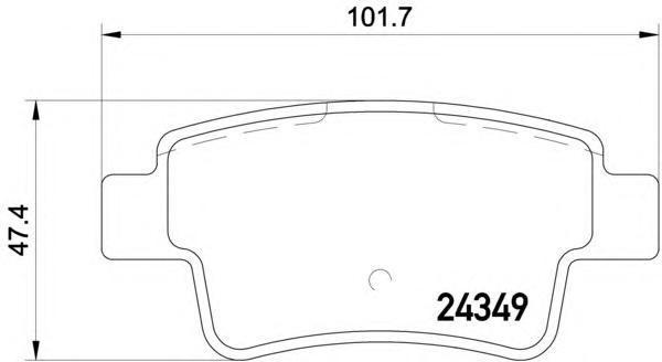 2434903 TEXTAR Комплект тормозных колодок, дисковый тормоз