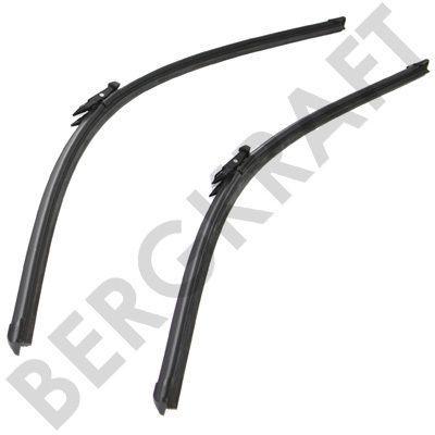 Щетки стеклоочистителя 650mm+600mm (комплект) безкаркасная MB SPRINTER 509CDI-518CDI (5-SERIES) BERGKRAFT BK9303956WB