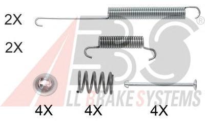 0026Q ABS Комплектующие, тормозная колодка