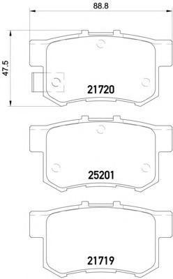 8DB355015611 BEHR-HELLA Комп. дисковых торм. колодок