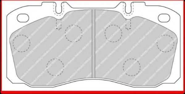 FCV1126 FERODO Комплект тормозных колодок, дисковый тормоз
