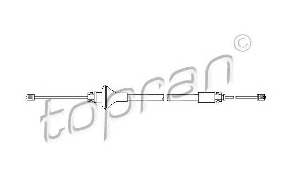 207370 TOPRAN Трос, стояночная тормозная система
