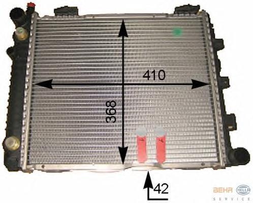 8MK376712154 HELLA Радиатор, охлаждение двигателя