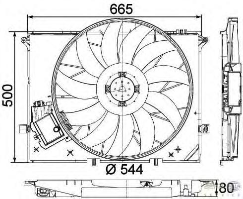 8EW351040091 HELLA Вентилятор, охлаждение двигателя