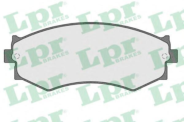 05P352 LPR Комплект тормозных колодок, дисковый тормоз