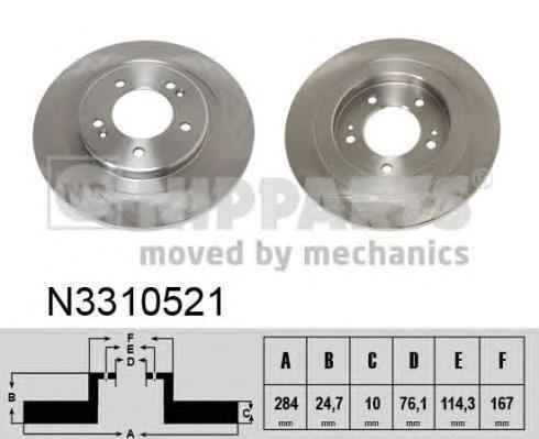 Тормозной диск NIPPARTS N3310521