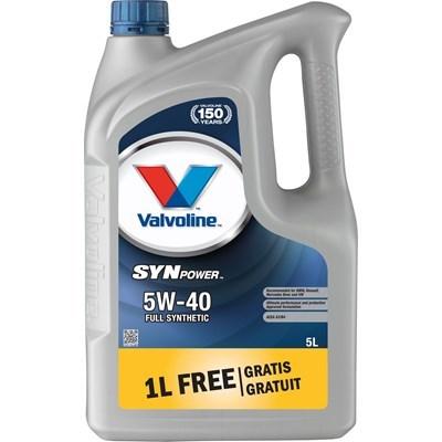 Масло моторное синтетика 5W-40 5 л. VALVOLINE 872383