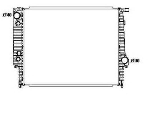 Радиатор, охлаждение двигателя NRF 519558