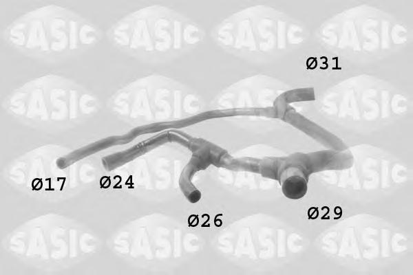 3404003 SASIC Шланг радиатора