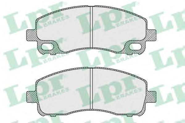 05P1638 LPR Комплект тормозных колодок, дисковый тормоз