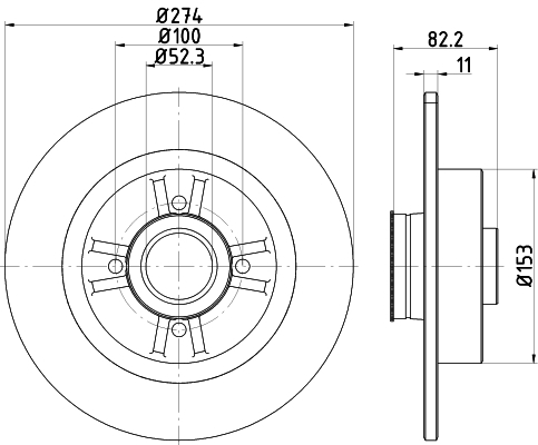 92223203 TEXTAR Тормозной диск