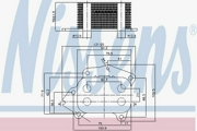 90717 NISSENS масляный радиатор