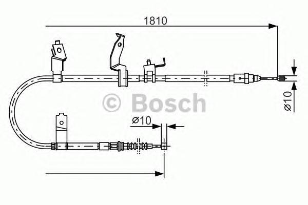 1987482052 BOSCH Трос, стояночная тормозная система