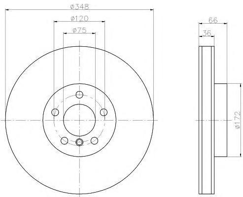 8DD355119261 BEHR-HELLA Тормозной диск
