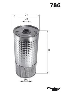 Масляный фильтр MECAFILTER ELH4252