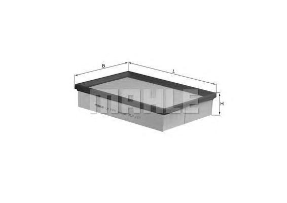 LX1570 MAHLE Воздушный фильтр
