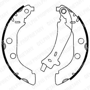 LS1723 DELPHI Комплект тормозных колодок