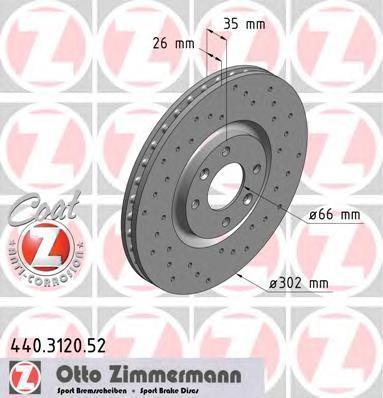 440312052 ZIMMERMANN Тормозной диск