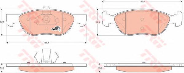 GDB1487 TRW Комплект тормозных колодок, дисковый тормоз