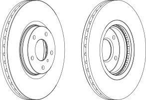 DDF15051 FERODO Тормозной диск
