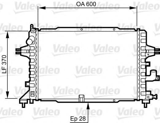 Радиатор, охлаждение двигателя VALEO 734380