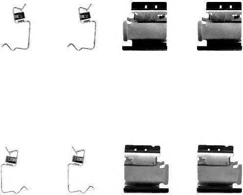 8DZ355202661 BEHR-HELLA Комплектующие, колодки дискового тормоза