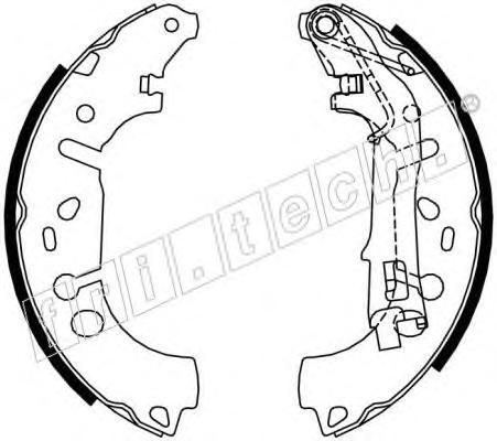 Комплект тормозных колодок FRI.TECH. 1034117