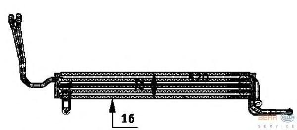 8MO376726361 BEHR-HELLA Масляный радиатор, рулевое управление