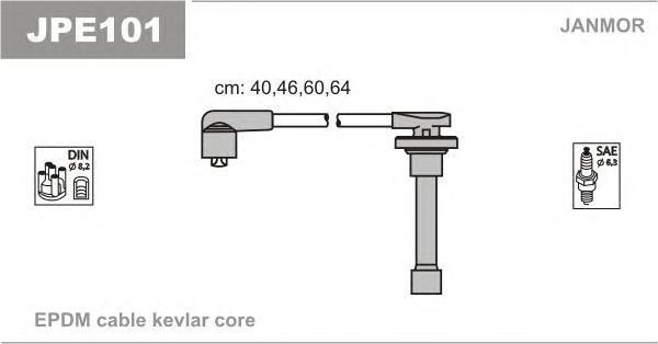 JPE101 JANMOR Комплект проводов зажигания